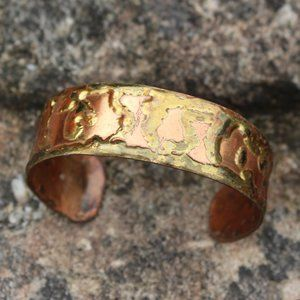 Vintage Jewelry - Vintage Soldered Copper Cuff Bracelet